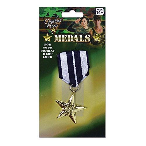 Bristol Novelty Novelty-BA605 BA605 Médaille Militaire de Costume, Homme, Multicolore, taille unique