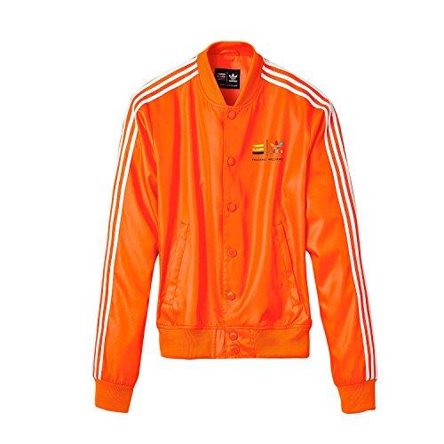 adidas Herren Pharrell Williams' Consortium X Track Z97399 Jacke, orange/weiß, S
