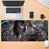 Dmsbzd Superficie de Desgaste de Alfombrilla de ratón Animado Protección Personalizar Duradero Grande Ministerio del Interior Alfombrilla de ratón 900 * 400mm (Color : 800mm*300mm, tamaño : 4mm)