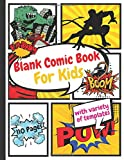 blank comic book for kids with variety of templates