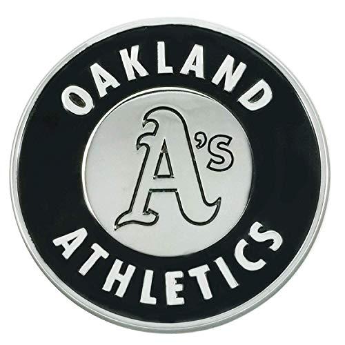 SLS FANMats Oakland Athletics A's Premium Solid Metal Chrome Raised Auto Emblem Decal Baseball