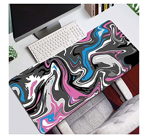 Gaming Mouse Pads Strata Liquid Gaming Keyboard Pad Improves Precision and Speed Abstract Graphics Mice Desk Mat Large Home Office 900x400mm/Xxl