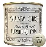 Shabby Chic Furniture Paint Peinture pour meubles Idéal pour créer une ambiance shabby chic Effet métallisé Doré 125 ml.