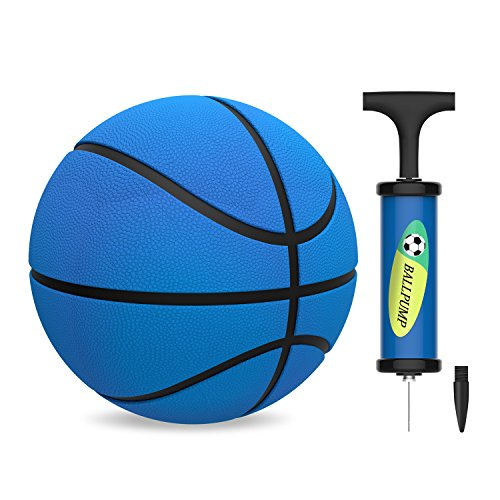 HUNFS Kids Mini Basketball, Toddler Replacement Basketball for Little Basketball Hoop - Soft and Durable - Indoor Outdoor Playing Cute Baby Toy Ball (5.5inch Diameter)