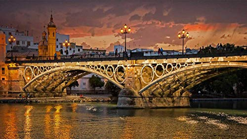 CZYSKY Puente Isabel II, Sevilla, Rompecabezas De 500 Piezas Puzzle Juguete De Madera (52 * 38 Cm)