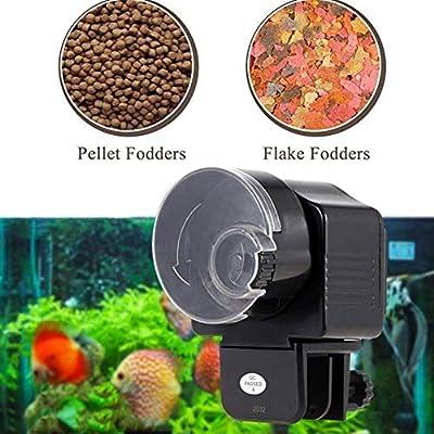 Automatische Fischfütterung Futterspender Futterautomat Teich Fütterung Zeitrationierspender Aquarium Teich für Aquarium