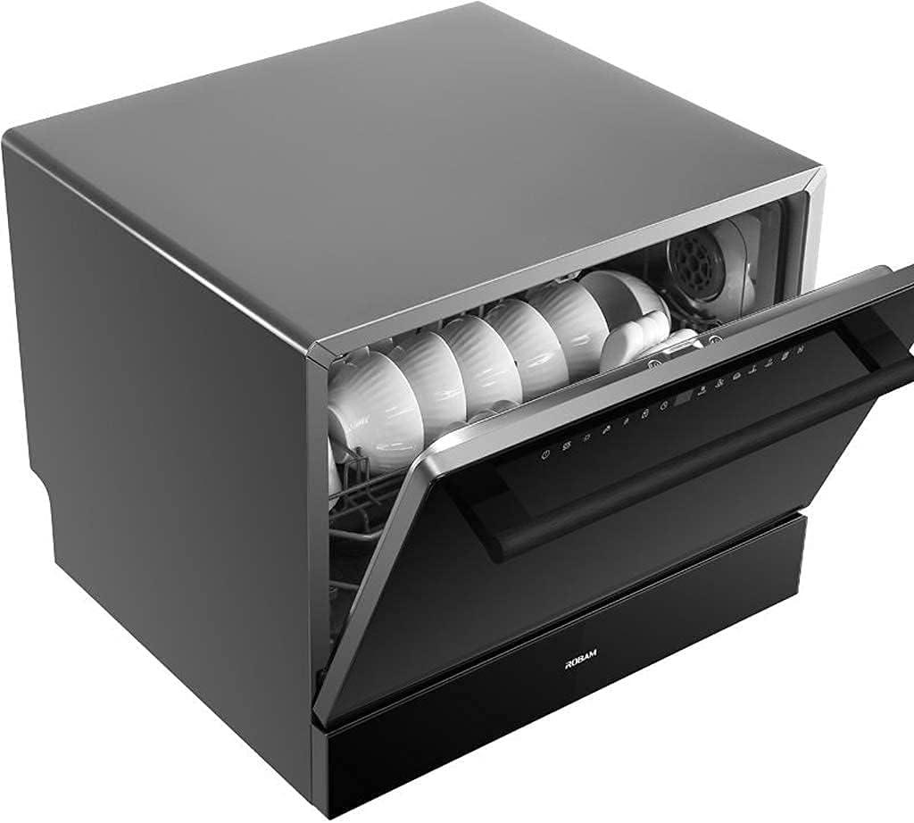 MOSHUO Lavavajillas de sobremesa Lavavajillas de sobremesa automático Mini lavaplatos portátil, rociador Giratorio 360 °, 5 programas de Lavado, fácil de Limpiar