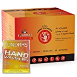 Tundras Hot Hand Warmers 11 Hours Long Lasting - 40 Count - Natural Odorless Safe Single Use Air Activated Heat Packs for Hands, Toes and Body - Up to 11 Hours of Heat - TSA Approved