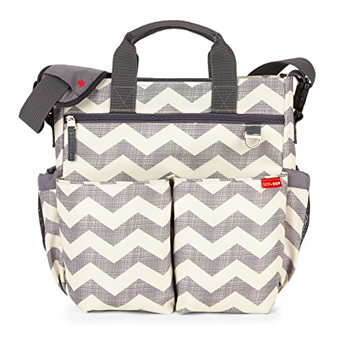 Skip Hop Messenger Diaper Bag with Matching Changing Pad, Duo...