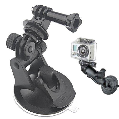 Mini auto zuignap statief adapter + 7CM Diameter Base Mount voor GoPro NIEUWE HERO /HERO6 /5/5 Sessie /4 Sessie /4/3+ /3/2 /1, Xiaoyi en andere actiecamera's (zwart), Voor DJI Drone Accessoires
