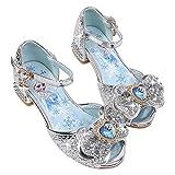 YOSICIL Niña Zapatos de Tacón Disfraz de Princesa con Lentejuelas Zapatos de Ballet Tango Latino Zapatilla de Vestir...