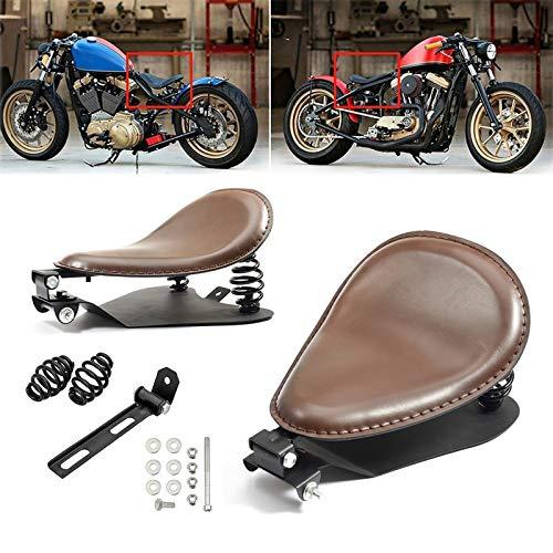Amazicha 3' Brown Solo Seat Springs Bracket Base Plate Pan Black Mount Kit Motorcycle Compatible for Harley Honda Yamaha Kawasaki Suzuki Sportster Bobber Chopper