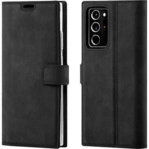 SURAZO für Note 20 Ultra Premium RFID Echt Lederhülle Schutzhülle mit Standfunktion - Klapphülle Wallet case Handmade in Europa für Samsung Galaxy Note 20 Ultra