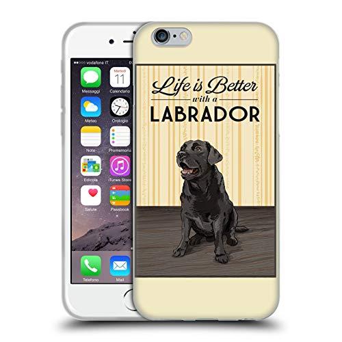 Head Case Designs Licenza Ufficiale Lantern Press Labrador Collezione Cane Cover in Morbido Gel Compatibile con Apple iPhone 6 / iPhone 6s