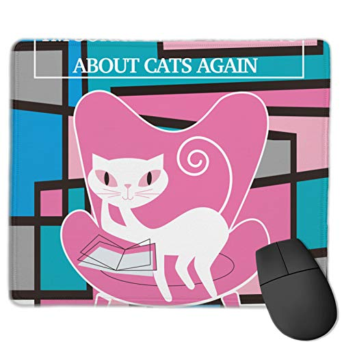 Almohadillas de ratón impresas gráficas de 9.84 x 11.82 pulgadas I'M Sorry I Was Thinking About Cats Again - Decoración de juegos de oficina para accesorios de escritorio