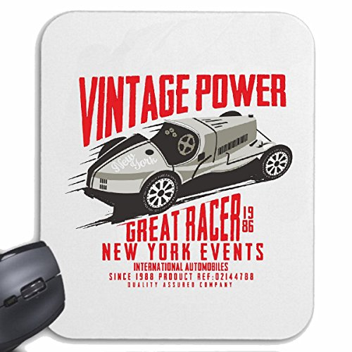 Reifen-Markt Mousepad (Mauspad) Vintage Power New York Events Hotrod Formel 1 Rennsport Rennwagen HOT Rod US CAR MUCLE CAR V8 Route 66 USA Amerika für ihren Laptop, Notebook oder Internet PC (mit Win