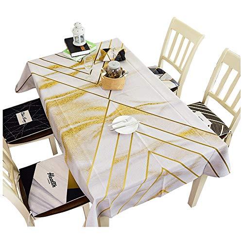 Mantel - Nordic Linen Mantel a Prueba de Polvo Mesa de Centro Rectangular Paño de Mesa Paño de Mesa Fiesta de jardín Mantel Decorativo Multifuncional Material Blando (Size : 140x180cm)