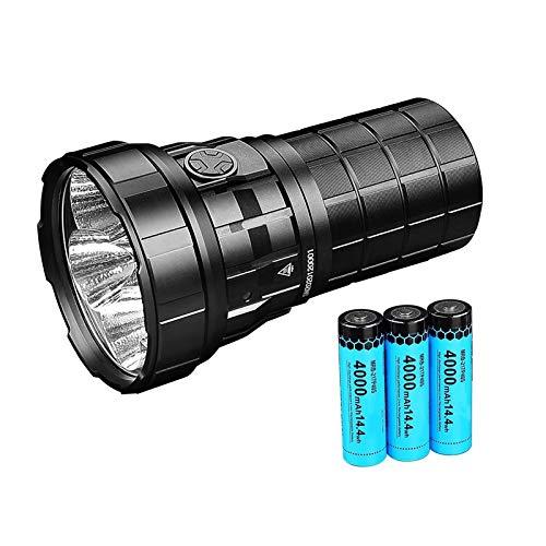 Gulu R60C USB LED Linterna 18000lm Alto Potente Ligero Impermeable con batería 21700 para la búsqueda de cuellos de patrullaje
