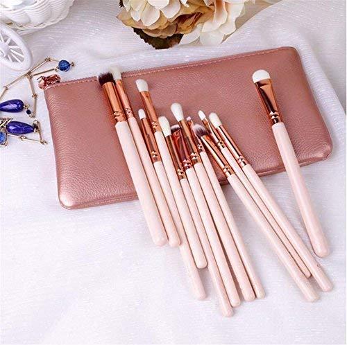 V smile cepillos del maquillaje 12pcs La marca de fábrica profesional del lujo de oro de Rose compone el kit de herramientas La mezcla del polvo cepillos cosméticos CONJUNTO DE LUJO(ROSA)