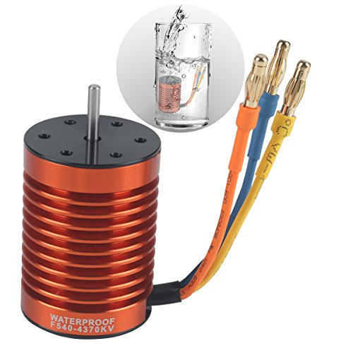 Crazepony-UK F540 4370KV Brushless Motor Waterproof 3.175mm Shaft for 1/10 RC Car Truck by