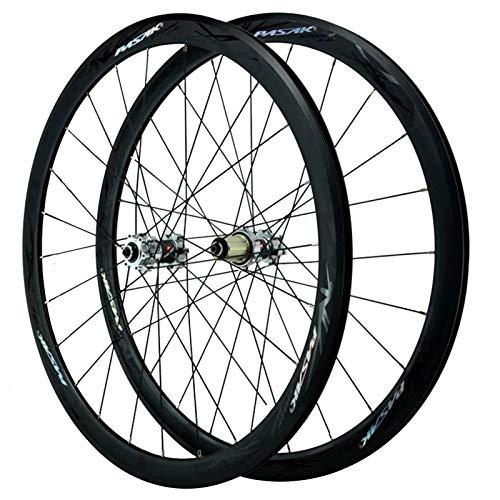SJHFG Rueda para Bicicletas de Carretera 700C,Pared Doble Liberación Rápida Freno de Disco Freno V/Freno C Ruedas Todoterreno de 29 Pulgadas (Color : Black)