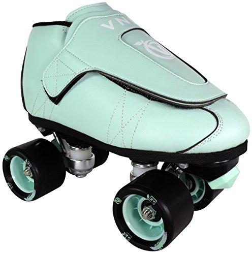 VNLA Mint Jam Skates | Quad Roller Skates from Vanilla - Indoor Speed Skates - Leather - for Tricks and Rhythm Skating (Mens 7 / Ladies 8)