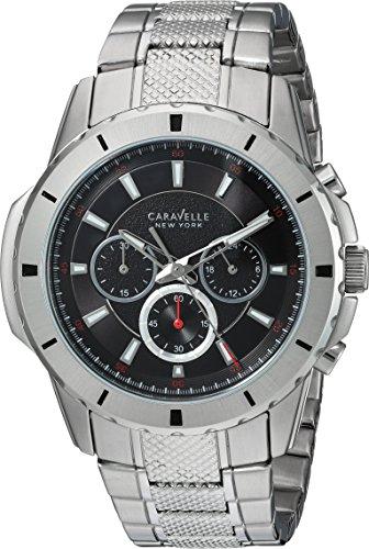 Caravelle New York Herren-Armbanduhr Analog Quarz Edelstahl Silber 24 (Modell: 43A137)