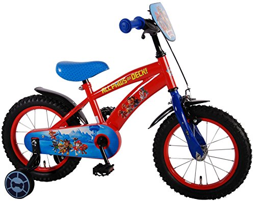 Unbekannt 14 Zoll Disney Kinder Kinderrad Jungen Disney Fahrrad Kinderfahrrad Jungenfahrrad Rad Bike Paw Patrol Volare 61450