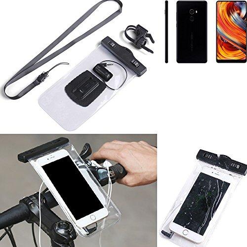 K-S-Trade® Compatible con Xiaomi Mi Mix 2 Soporte De Bicicleta para Teléfono Móvil Manillar Montaje Impermeable A Prueba De Agua Conector para Auriculares Funda para Teléfono Inteligente Ciclismo