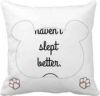 OFFbb-USA Sleep Enjoy Comfort Expression Bear - Funda cuadrada para almohada