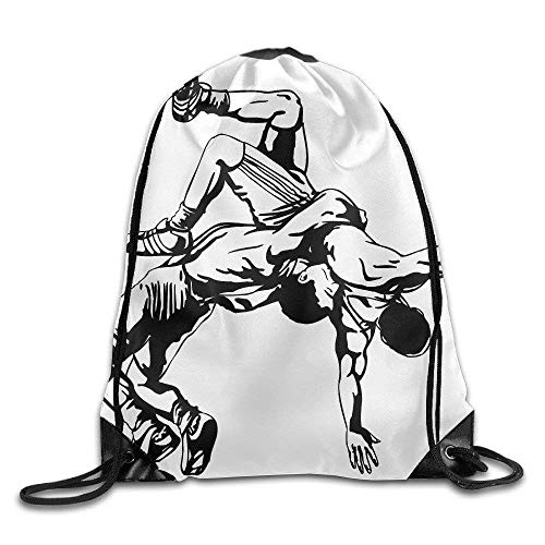 Sporttaschen Turnbeutel Men's Women's Amateur Wrestling Lightweight Removable Waterproof Draw Cord Hiking Teamsport Formation Tote Storage Gymsack Gym Drawstring Bags Sackpack Use Fashion