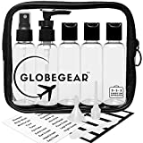 Travel Bottles & TSA Approved Clear Quart Size Bag Empty for Toiletries and Liquid with Leak-Proof Containers & Accessories (model GG2)