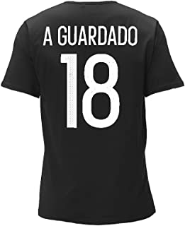 75a7ea567 adidas Andres Guardado Mexico World Cup Men s Black Name and Number T-shirt