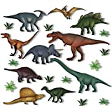 Articlings 10 Dinosaur & Jurassic Plant <span class='highlight'>Window</span> Clings Non-adhesive Static Stickers – Out of This World Decorations