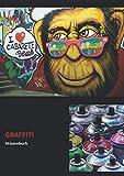 Graffiti Skizzenbuch: DIN A4 | Blanko Sketchbook mit 108 Seiten für Sprayer zum Selbstgestalten | Ideales Geschenk für einen Künstler | (v. 9)