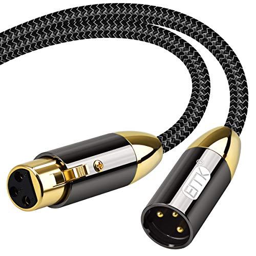 Cable de audio XLR Cable equilibrado de 3 pines macho a hembra...