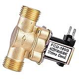Electrovalvula 220V Agua, 1/2' AC Válvula Solenoide de Latón, Normalmente Cerrada, Sin Consumo de Energía, Anticorrosiva, para Ajuste de Agua