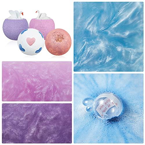 Bombes de bain, Venares 4 x 220G Bomb Gift Set avec Inner Surprise Blessing: Je vous souhaite tout le bonheur du monde, cadeau parfait pour femme