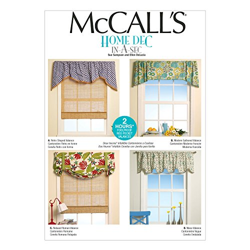 McCall's Patterns M7034 Window Treatments, in One Envelope