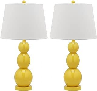 Safavieh Jayne Three Sphere Glass Lamp, Set of 2, Yellow