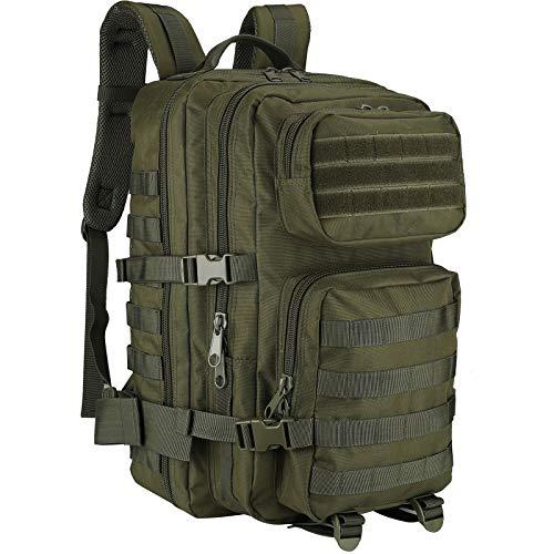 Procase Mochila Táctica Militar 40L, Paquete de Asalto MOLLE de Gran Capacidad para Utilidad Militar, Bolsa de Emergencia de 3 Días para Caza Senderismo Acampada y Actividad al Aire Libre -Verde