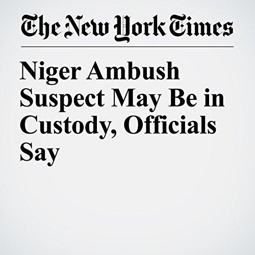 Niger Ambush Suspect May Be in Custody, Officials Say copertina