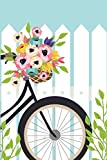 Discreet Password Book: Never Forget A Password Again! 6 x 9 White Fence And Bike Design, Password Book With Tabbed Large Alphabet, Over 380 Record User And Password (Volume 11)