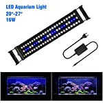 FTALGS-Aquarium-LED-Aquarium-Beleuchtung-Aquariumbeleuchtung-Lampe-Wei-Blau-Licht-mit-Verstellbarer-fr-Aquarium