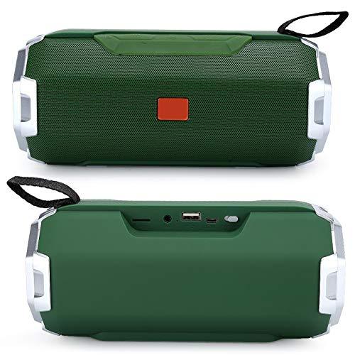 Mxzzand Sistema de Audio Portátil al Aire Libre Bluetooth Inalámbrico Bajo 10W Altavoz Radio FM estéreo