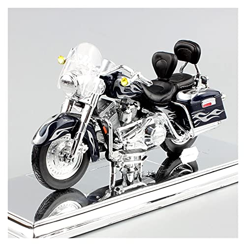MHDTN El Maquetas Coche Motocross Fantastico 1/18 para 2002 Flhrsei CVO Custom Eagle Road King Diecast Modelado Motocicleta Street Cruiser Bicicleta Juguetes Réplicas Regalos Juegos Mas Vendidos