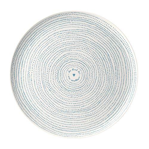 Royal Doulton Polar Blue Ellen Degeneres Platter 32cm Dots