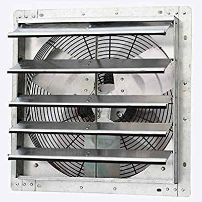 """Iliving - 18"""" Wall Mounted Exhaust Fan - Automatic Shutter - Variable Speed - Vent Fan for Home Attic, Shed, or Garage Ventilation, 1736 CFM, 2600 SQF Coverage Area"""