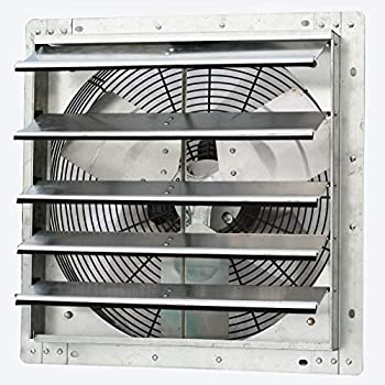 iLiving - 18  Wall Mounted Exhaust Fan - Automatic Shutter - Variable Speed - Vent Fan For Home Attic Shed or Garage Ventilation 1736 CFM 2600 SQF Coverage Area