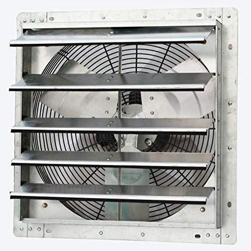 "iLiving - 18"" Wall Mounted Exhaust Fan - Automatic Shutter - Variable Speed - Vent Fan For Home Attic, Shed, or Garage Ventilation, 1736 CFM, 2600 SQF Coverage Area"